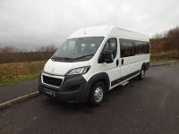 Peugeot Boxer 17 Seat CanDrive EasyOn Minibus with Onboard Wheelchair Lift plus Luggage Racks and Storage Cage