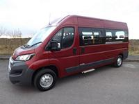 Peugeot Boxer CanDrive Flexi 17 Seat School Minibus in Ruby Red For Sale