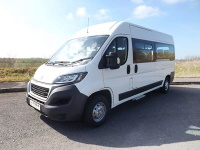 Peugeot Boxer 17 Seat PSV Ready with Tacho IVA Tested Fully Tracked Wheelchair Accessible Minibus with 4 Wheelchair Capacity