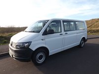 2016 Volkswagen Transporter Euro 6 ULEZ Compliant M1 9 Seater Wheelchair Accessible Minibus with Twin Sliding Doors with 6 Seats on Tracking and Options For Half Bulkhead System and Onboard Wheelchair Lift