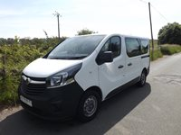 Vauxhall Vivaro SWB 9 Seater PCO ULEZ Euro 6 Minibus in White with Options for 6 Seats on Tracking Half Bulkhead System and Onboard Wheelchair Lift