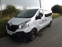 Renault Trafic 9 Seater Euro 6 PCO ULEZ LWB Minibus 125 BHP in Silver with Options for 6 Seats on Tracking Half Bulkhead System and Onboard Wheelchair Lift