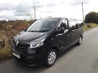 Renault Trafic Sport 9 Seater Euro 6 PCO ULEZ Compliant LWB Minibus with Air Con and Parking Sensors in Black