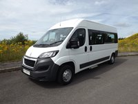 Peugeot Boxer 9 Seat Pro ULEZ Euro 6.2 CanDrive EasyOn Wheelchair Accessible M1 Car Licence Minibus with Air Con Cruise Sat Nav Electric Side Step Max 4 Wheelchair Capacity