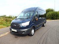 Low Mileage Ford Transit 155PS 17 Seat Trend Euro 6 ULEZ Minibus Full Service History