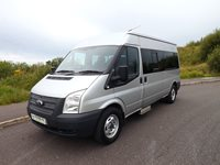 Ford Transit 14 Seat Drive on Car Licence Wheelchair Accessible Minibus with Ratcliff Palfinger Underfloor Lift in Metallic Silver