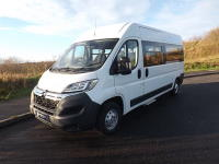 Citroen Relay CanDrive Flexi 17 Seat Enterprise Minibus in White with Air Conditioning Cruise Control and Parking Sensors