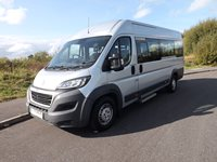 Peugeot Boxer 17 Seat ULEZ Compliant Lightweight Drive on Car Licence Minibus in Metallic Silver with Air Conditioning and Tacho