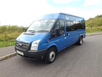 Ford Transit 17 Seat ULEZ Compliant Lightweight Drive on Car Licence Minibus For Sale in Atlantic Blue with Towbar