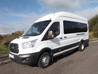 Ford Transit 17 Seat 155PS Trend Euro 6 ULEZ Compliant Minibus with Front and Rear Air Con Dual Parking Sensors and Towbar