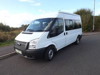Ford Transit MWB Twin Sliding Doors 9 Seat 140PS Wheelchair Accessible Minibus with Full Floor Tracking and Removable Seating