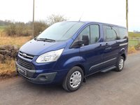 Ford Transit Tourneo SWB Zetec Euro 6 ULEZ Compliant 9 Seat Minibus in Blue with Air Con and Dual Parking Sensors