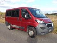 NO VAT Twin Sliding Doors Peugeot Boxer M1 L1 H1 5 Seat Wheelchair Accessible Minibus with Rear Parking Sensors Air Conditioning and Onboard Split Platform Wheelchair Lift