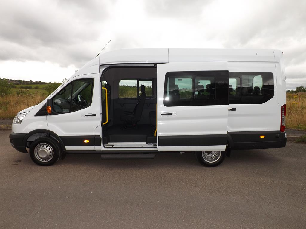 8657843cd1 Ford Transit 17 Seat School Minibus in White or Metallic Silver For Sale