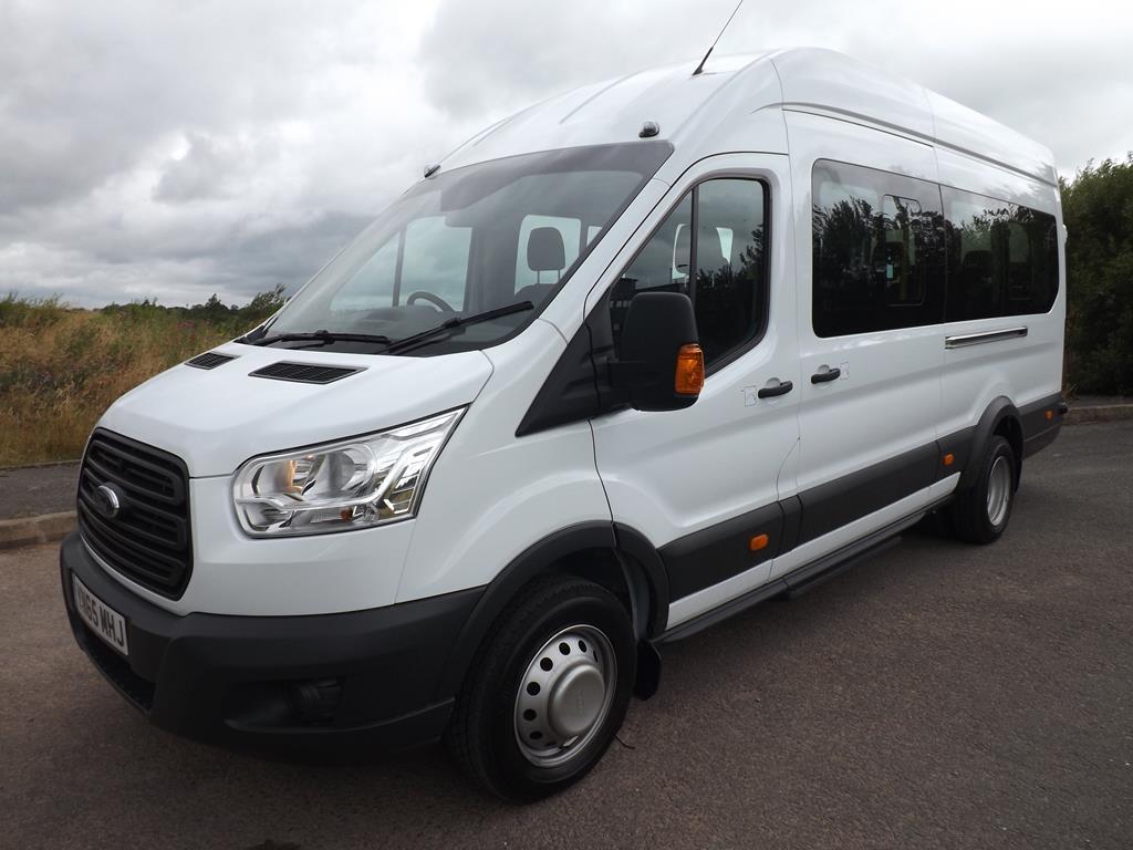 ford transit 17 seat school minibus in white or metallic. Black Bedroom Furniture Sets. Home Design Ideas