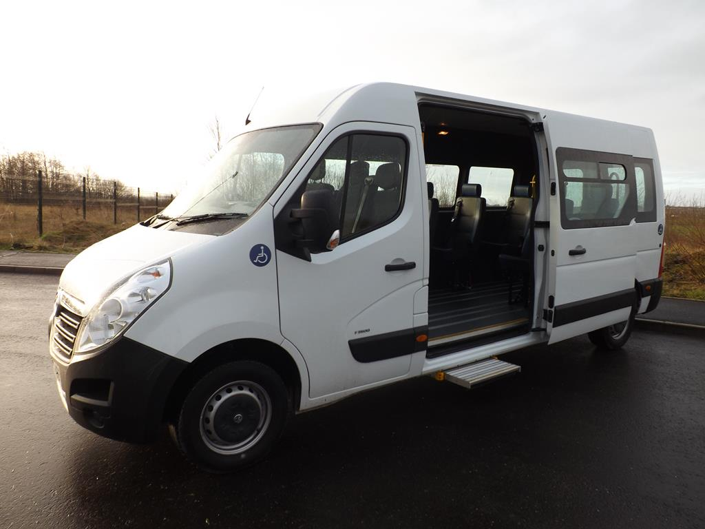 72f53357f6ff10 Vauxhall Movano 9 Seat Wheelchair Accessible Minibus For Sale with Internal  Wheelchair Lift